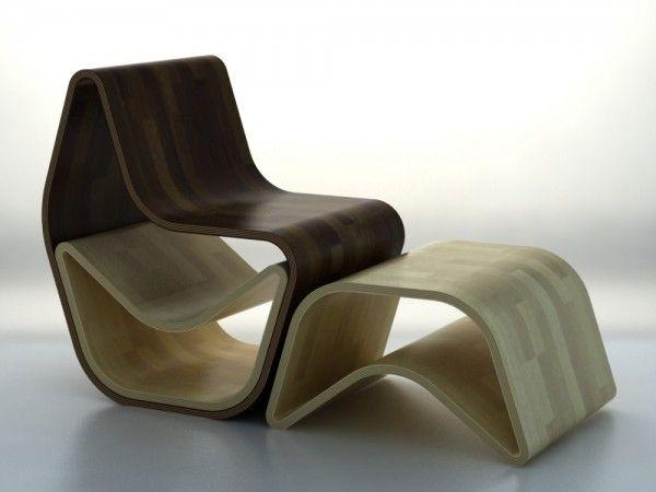 Elegante stoler laget av tre