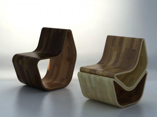Designerstoler laget av tre