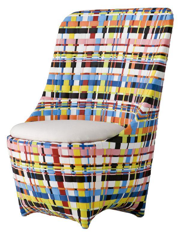 Строгое металлическое и пластиковое кресло Cape West