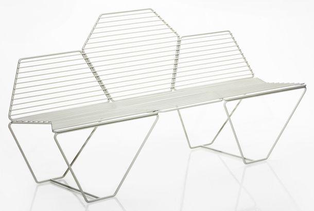 Скамейка Hexagone из элегантного металла
