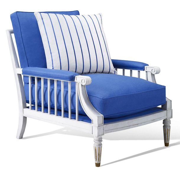 Кресло в голубых тонах Conservatory