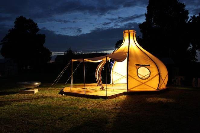 Яркий свет в палатке Froute Pod