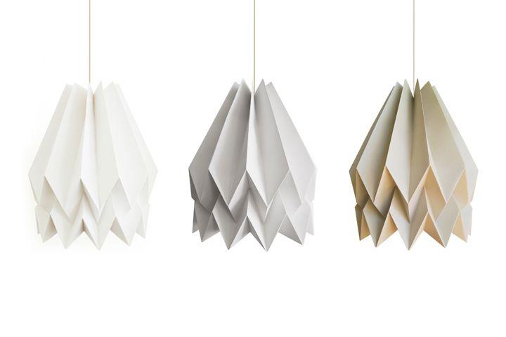 Бумажный светильник-оригами Orikomi