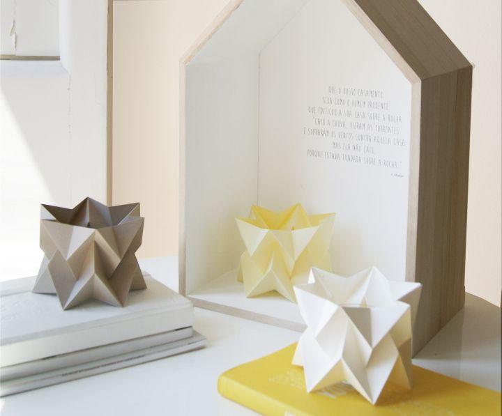Необычные миниатюрные бумажные светильники Orikomi