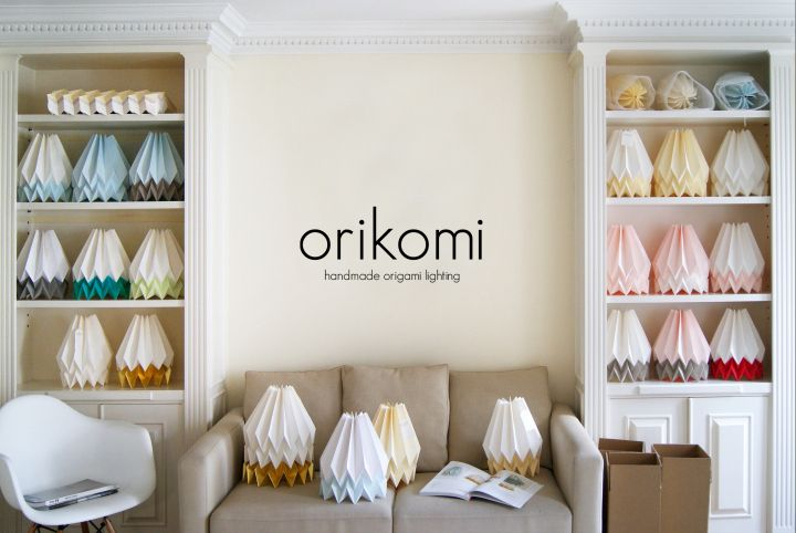 Коллекция бумажных светильников Orikomi