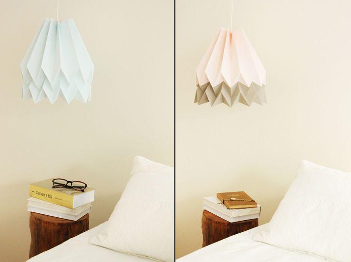 Яркие бумажные светильники Orikomi