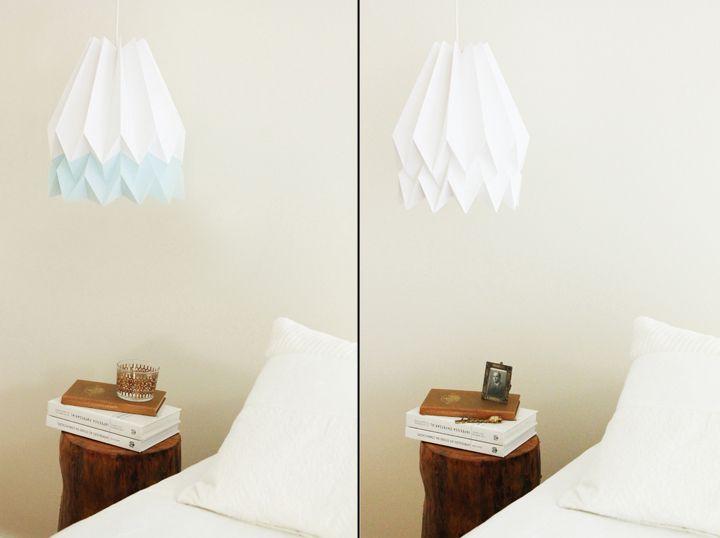 Белые бумажные светильники Orikomi
