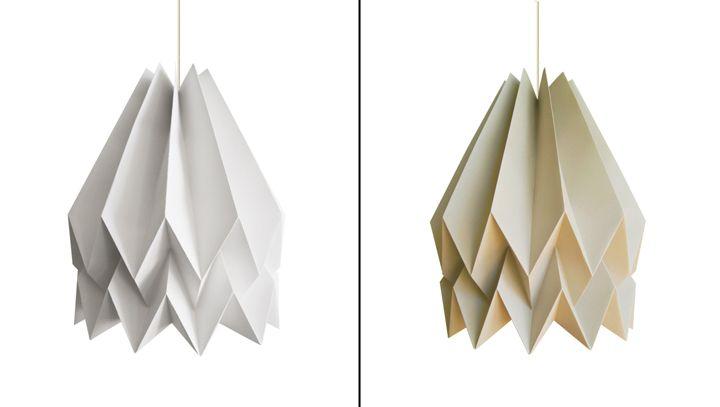 Необычные бумажные светильники
