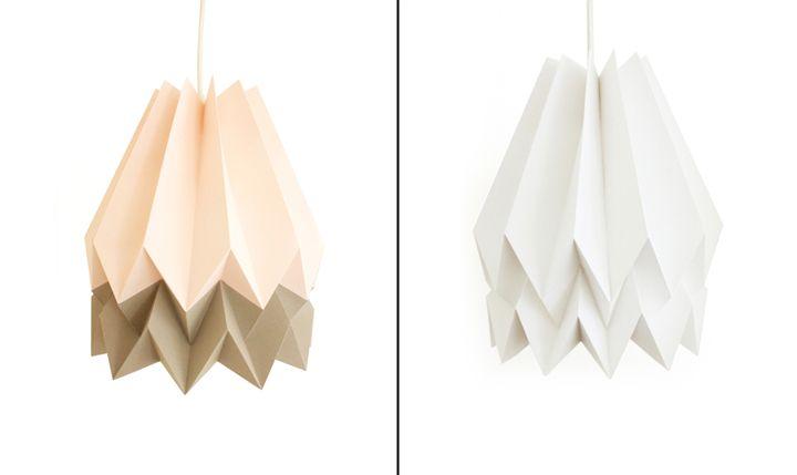Удивительные бумажные светильники Orikomi