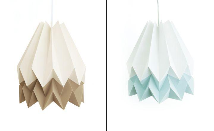 Красивые бумажные светильники Orikomi