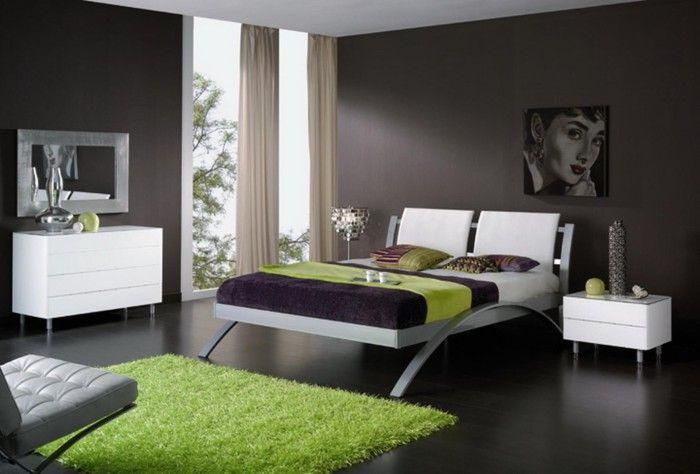 Udekorowanie sypialni możliwe jest dzięki dekorowi w kolorze zielonym.