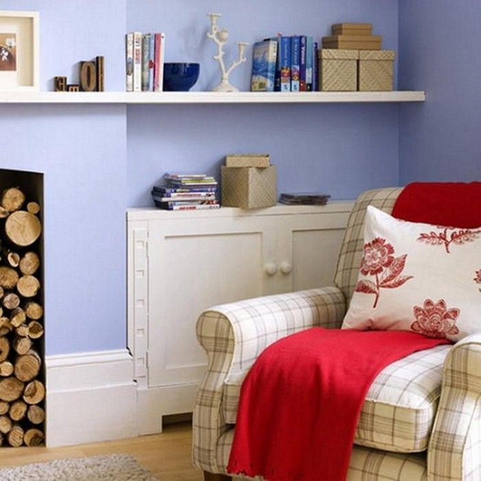 Прекрасным вариантом оформления пространства комнаты послужит размещение в ней полок.