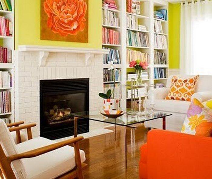 Яркий интерьер гостиной, станет удачным примером декорирования.