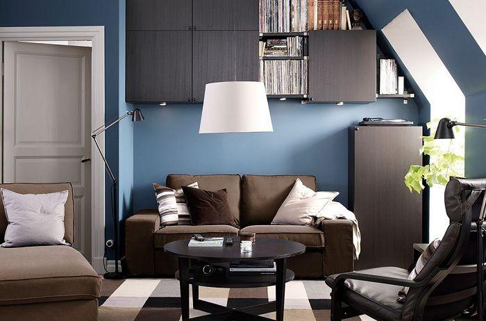 Прекрасный вариант оформить гостиную с интересными скрытыми пространствами.