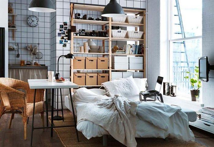 Минимум пространства и максимум полезных предметов, которые возможно разместить в этой комнате.