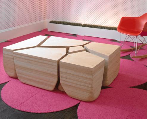 Стильный каменный стол