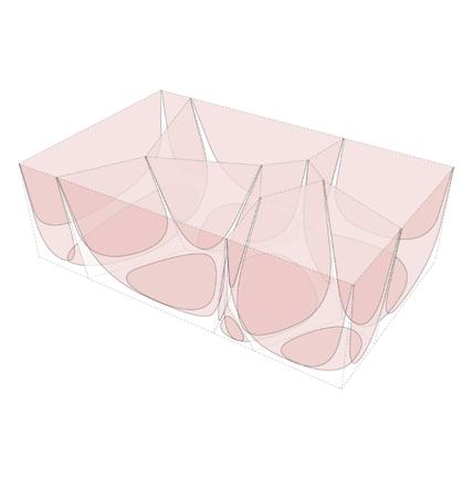 3D проекция каменного стола