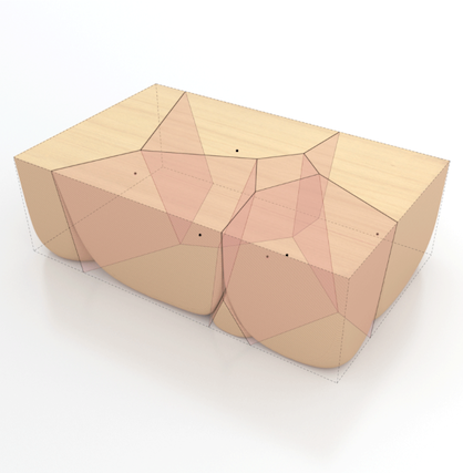 3D схема каменного стола