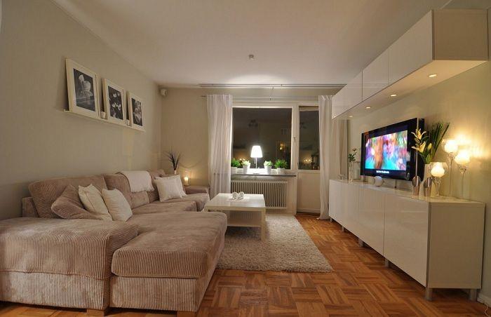 Удобное место перед телевизором - лучший вариант для отдыха.