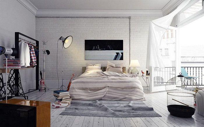 Красивый интерьер спальной в светлых тонах, что станет просто находкой для любого дома.
