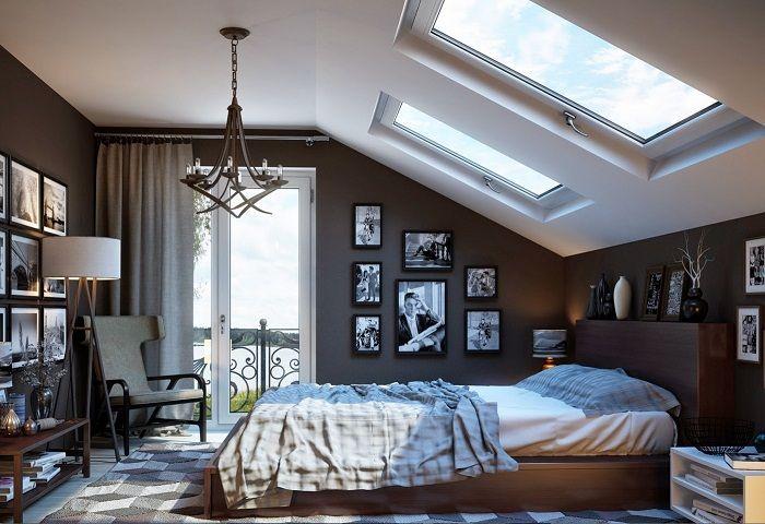 Отличный вариант декорирования спальной в коричневых тонах, что потрясающе смотрится.