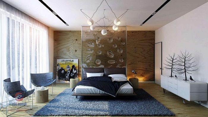 Хороший пример оформления спальной, что понравится однозначно и создаст просто крутой декор.