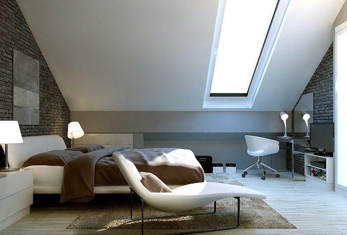 Очаровательная мансардная спальня, что станет оптимальным и лучшим вариантом для декора.