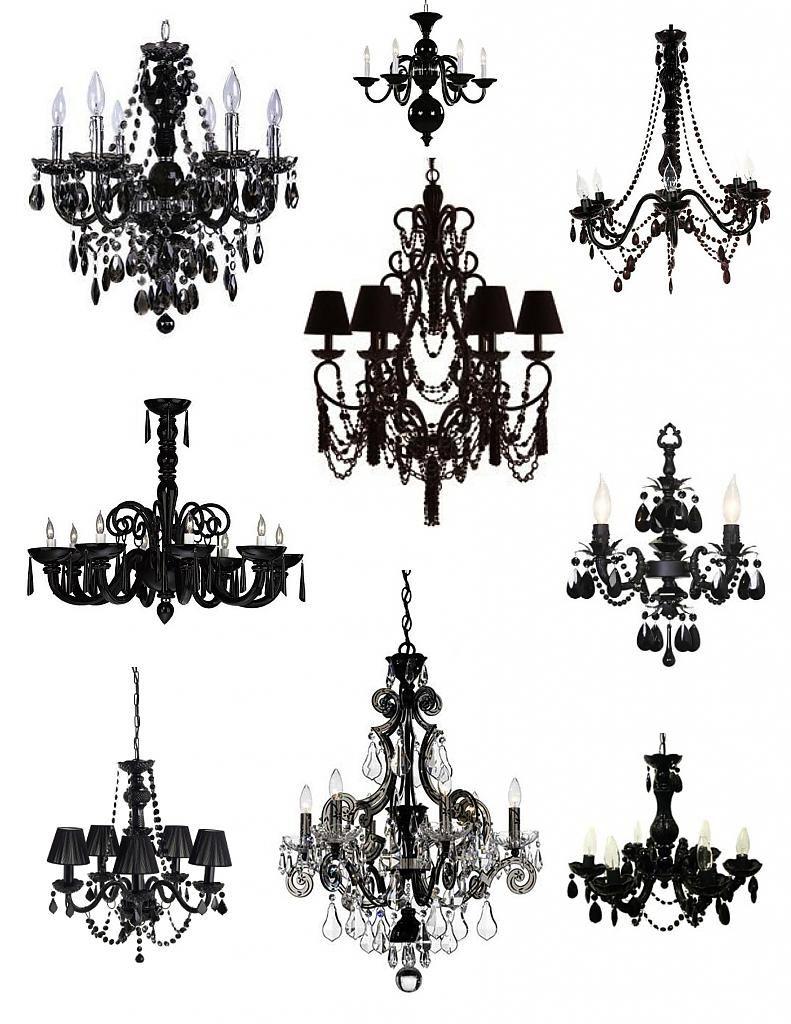 Элегантные светильники в чёрном цвете
