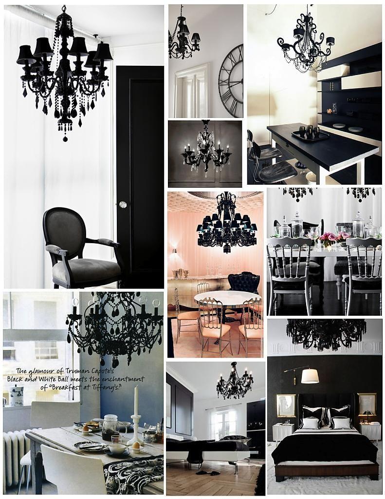 Креативные светильники в чёрном цвете