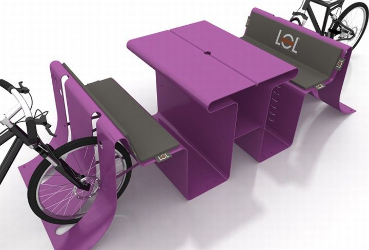 3D рисунок уличной мебели