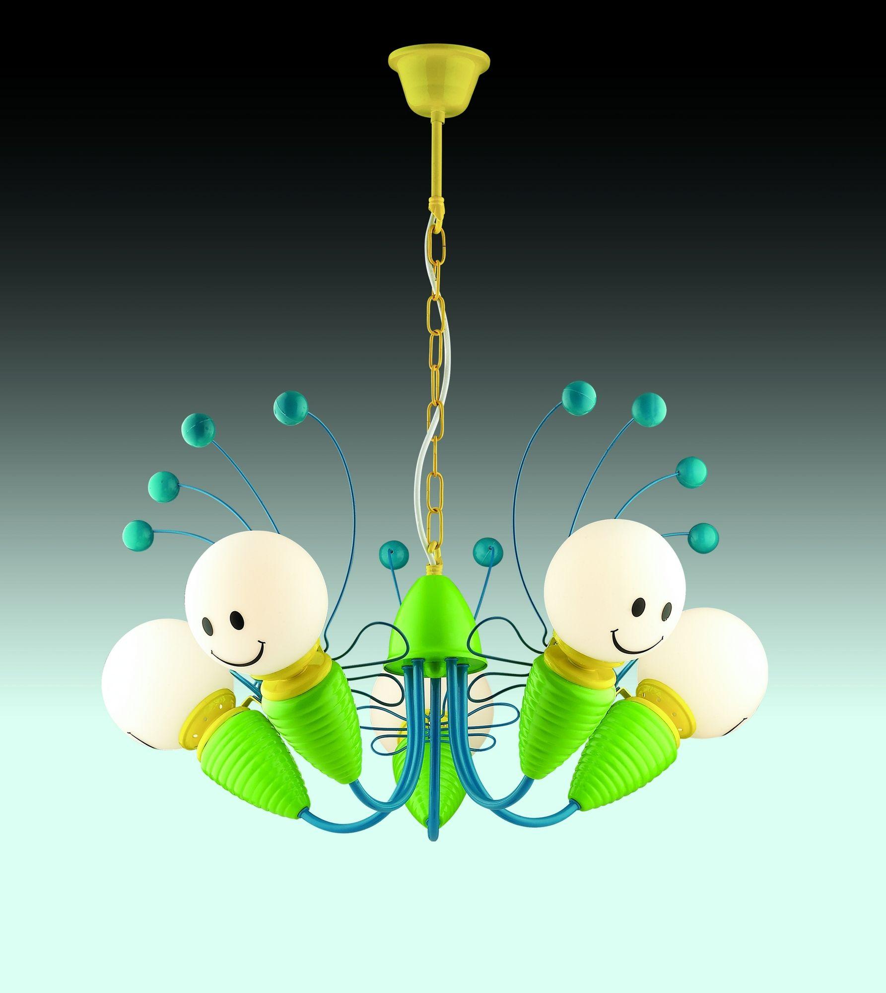 Творческа висулка лампа във футуристичен стил
