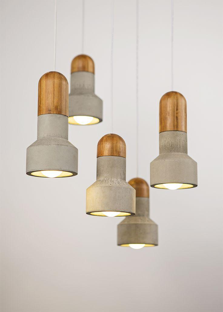 Креативные светильники Cement Pendants от Райнера Мутча