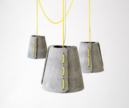 Бетонные светильники Cement Pendants от Райнера Мутча