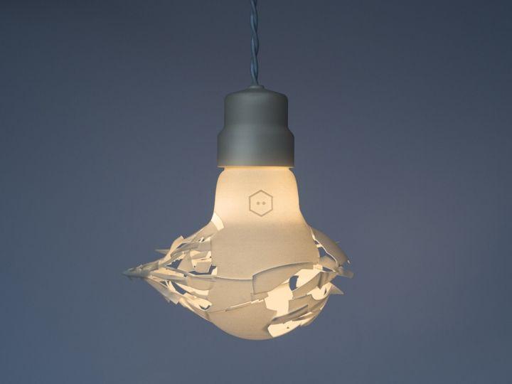 Красивая лампочка напечатанная на 3D принтере