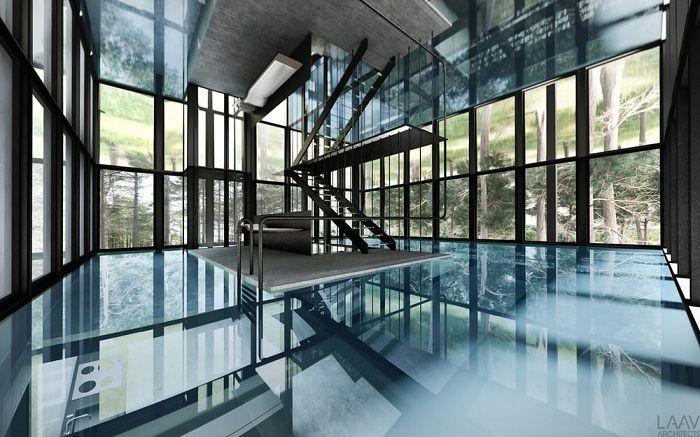 Villa Clessidra. Бассейн на втором этаже.