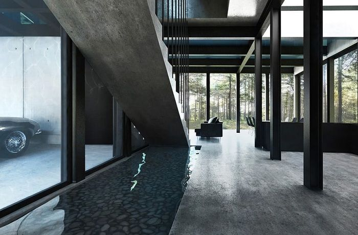Villa Clessidra. Первый этаж.