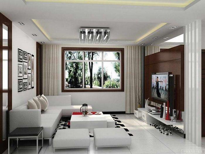 За да визуално разширите пространството на хола, струва си да използвате светли цветове.