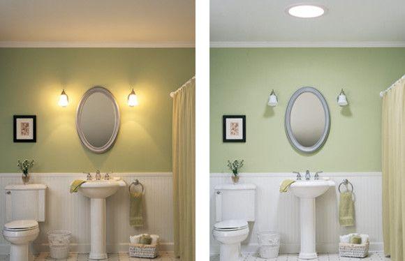 Настенные светильники в интерьере ванной