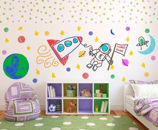 Маркерно покритие в детската стая