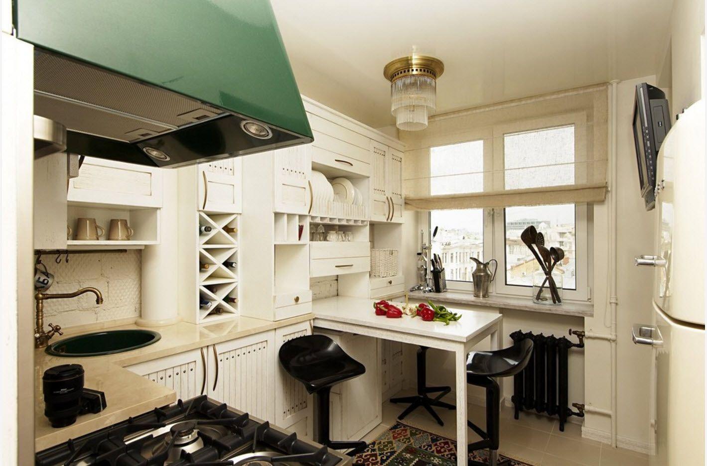Lite kjøkkeninnredning