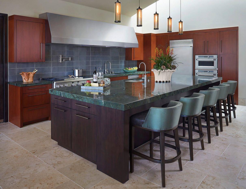 Дизайн за просторна кухня