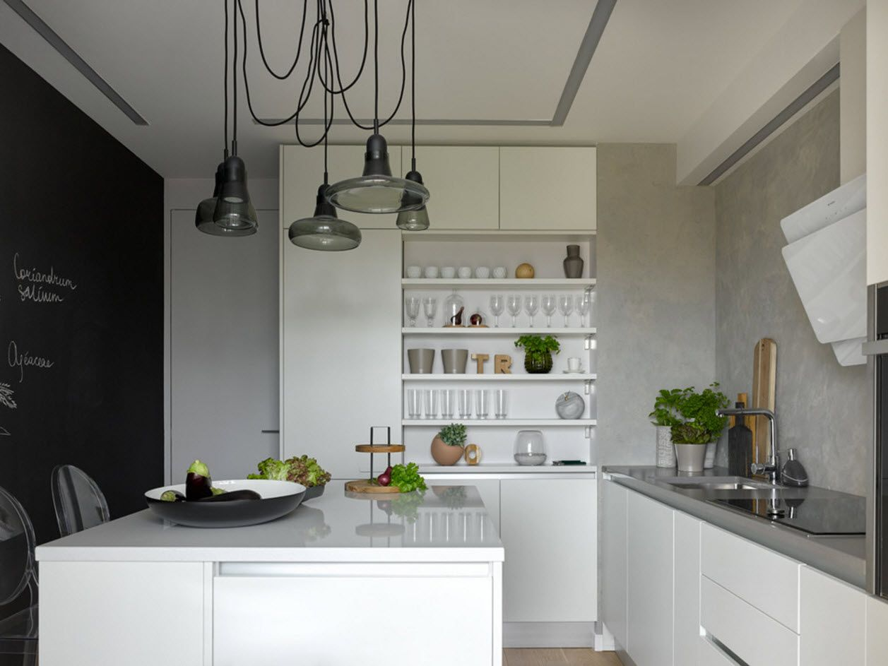 Ъглово оформление за малка кухня