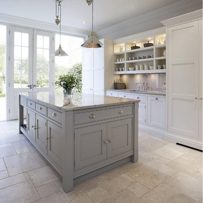 Дизайн на кухня в нюанси на сивото
