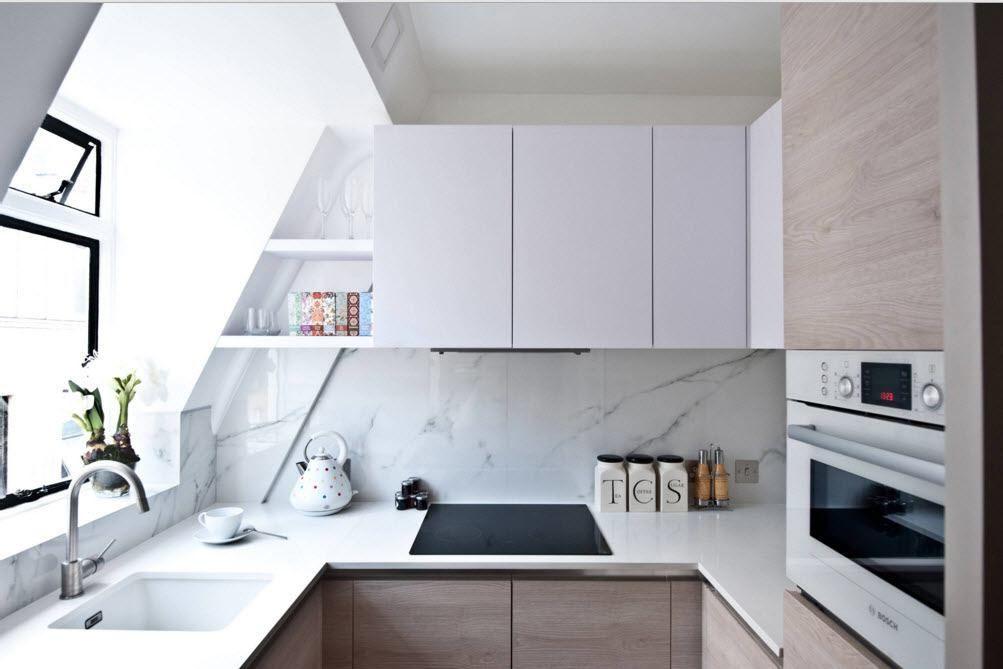 Lite kjøkken på loftet