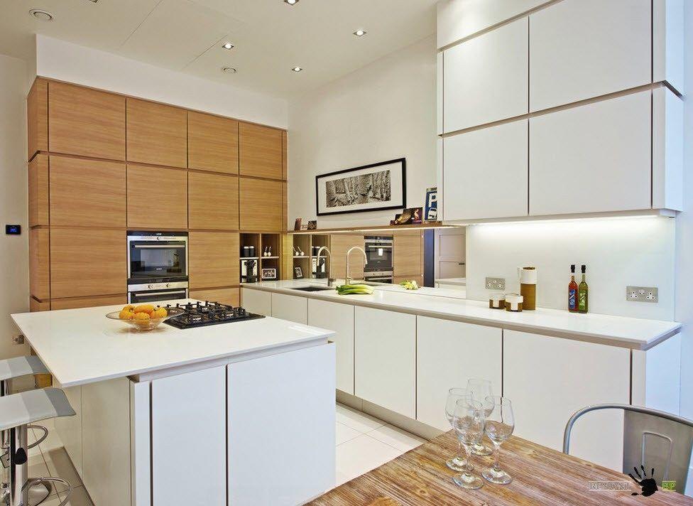 Для просторной кухни