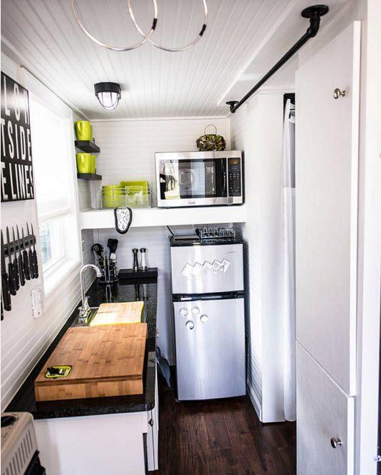 Design av en veldig liten kjøkkenplass