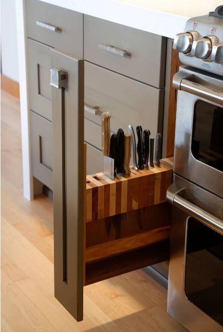 Oppbevaring i et moderne kjøkken