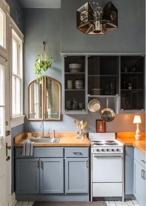 Серые кухонные фасады