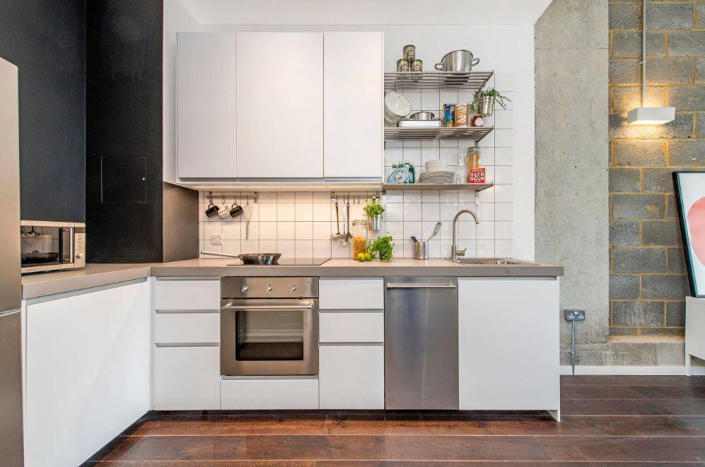 Решение для просторной гостиной с кухней