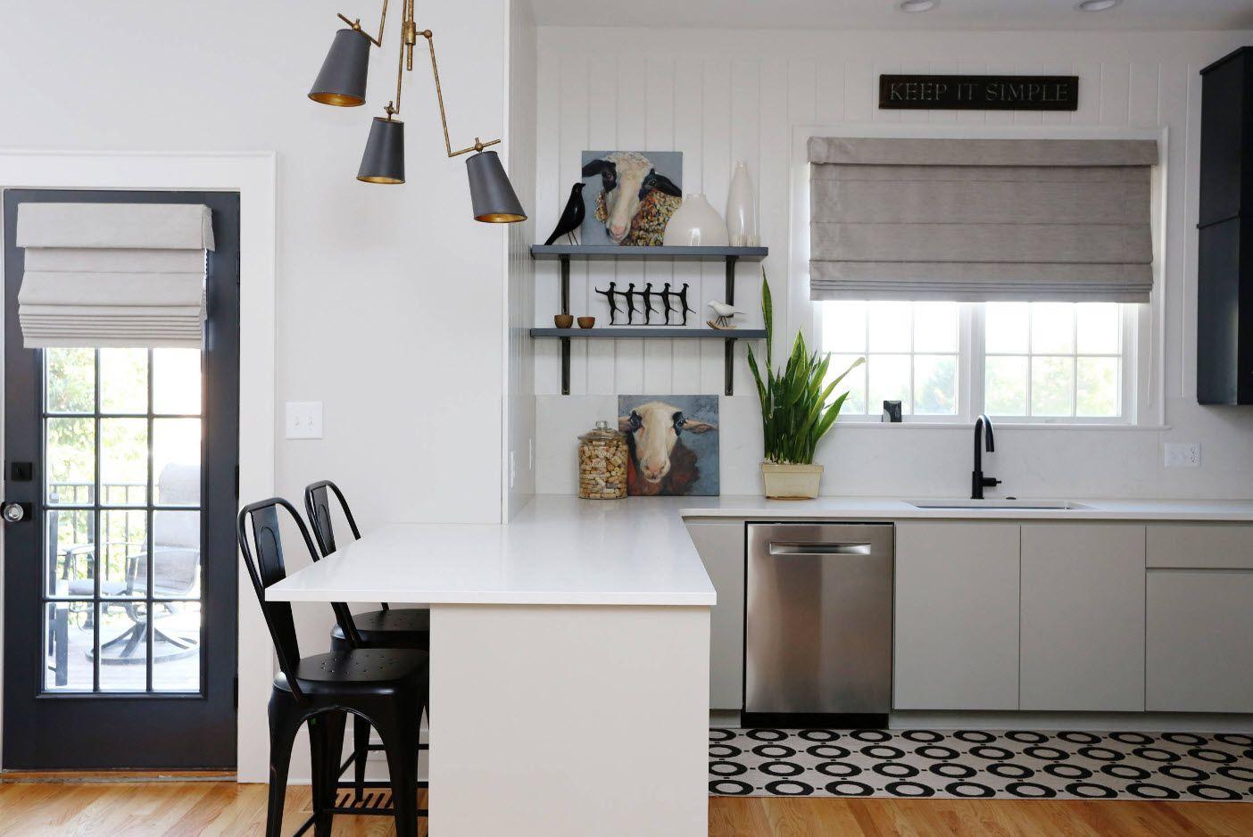 Бял и черен дизайн